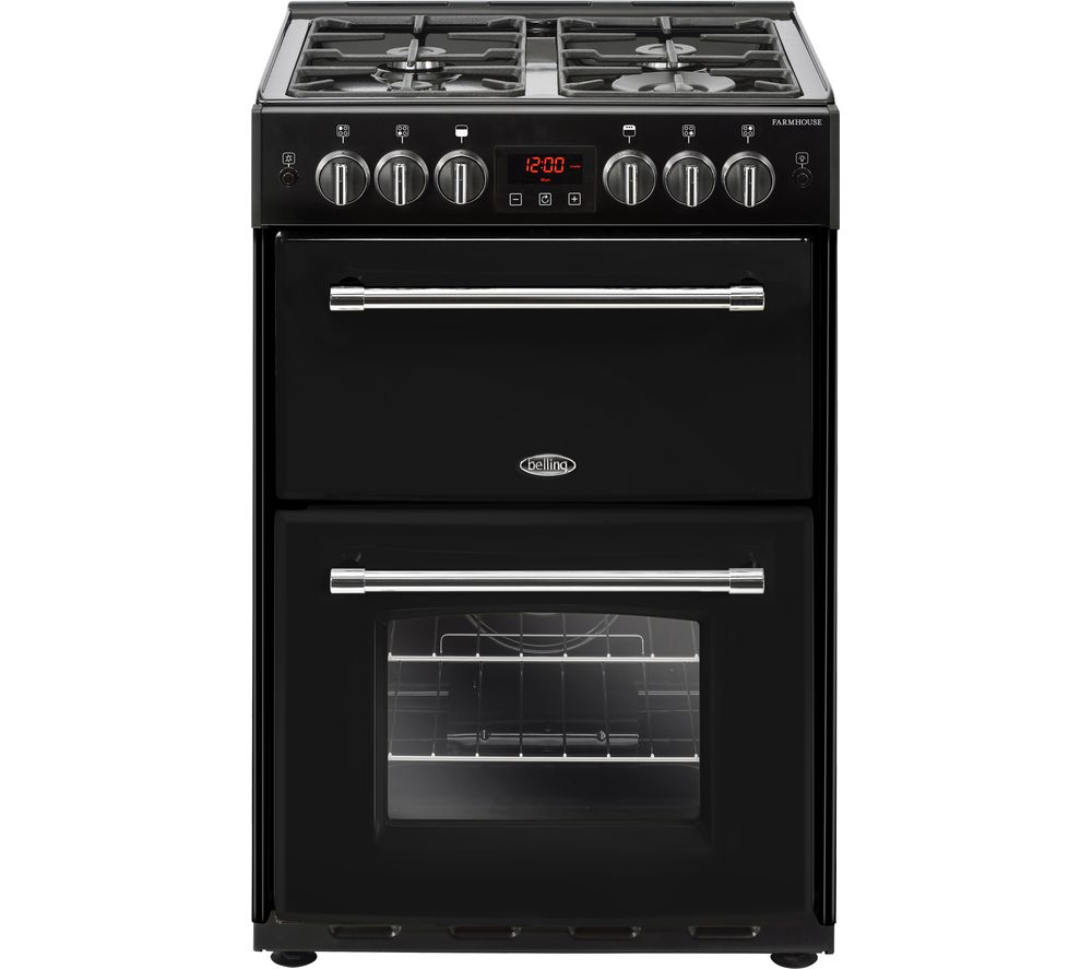 BELLING Farmhouse 60G 60 cm Gas Cooker - Black, Black