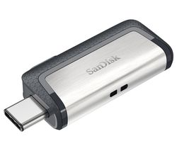 Ultra USB Type-C & USB 3.1 Dual Memory Stick - 32 GB, Silver