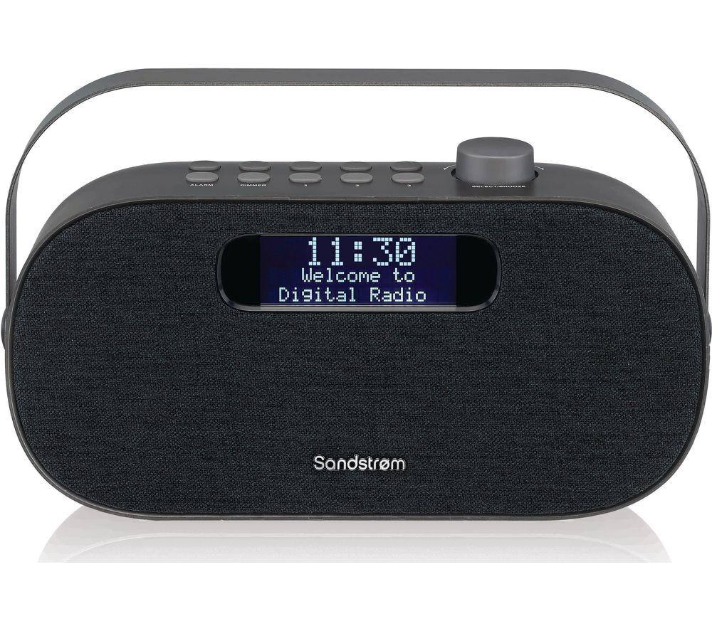 SANDSTROM SF-DABG18 Portable DAB+/FM Bluetooth Radio - Grey