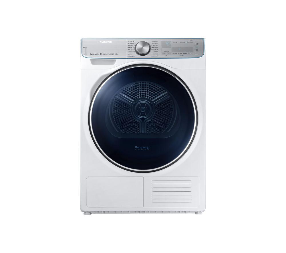 SAMSUNG DV90N8289AW/EU Smart 9 kg Heat Pump Tumble Dryer - White