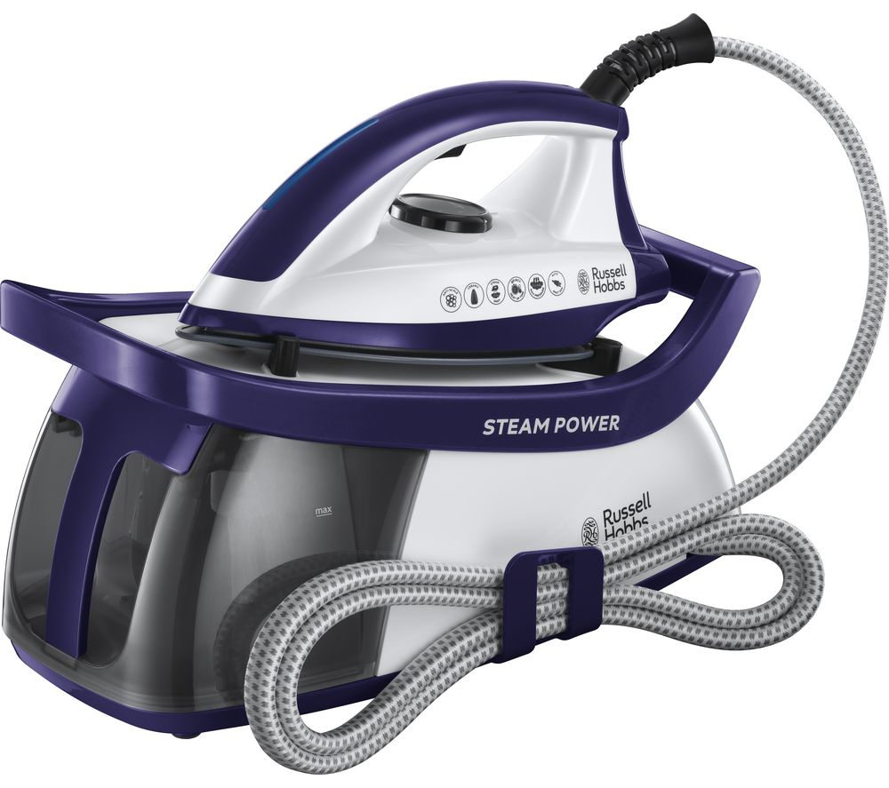 Image of RUSSELL HOBBS Steam Power 100 Steam Generator Iron - Blue, Blue