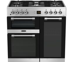 CK90F530X 90 cm Dual Fuel Range Cooker - Stainless Steel & Chrome
