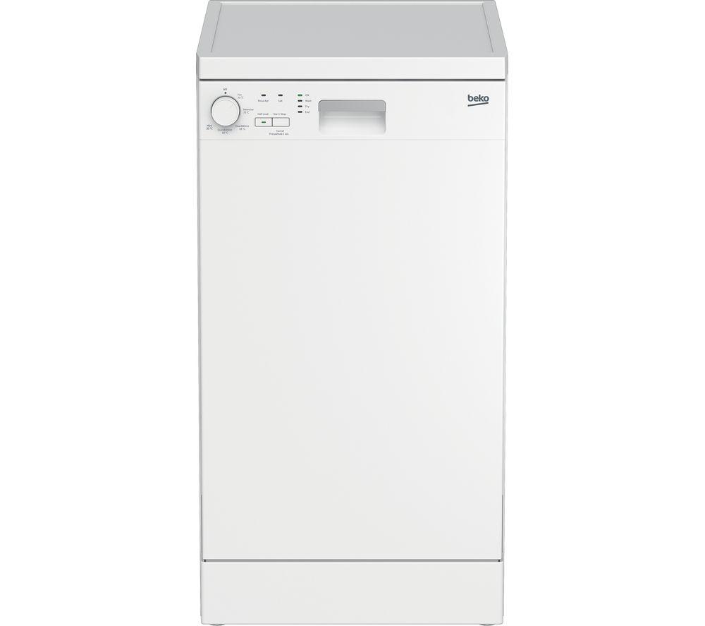 BEKO DFS05X11W Slimline Dishwasher - White