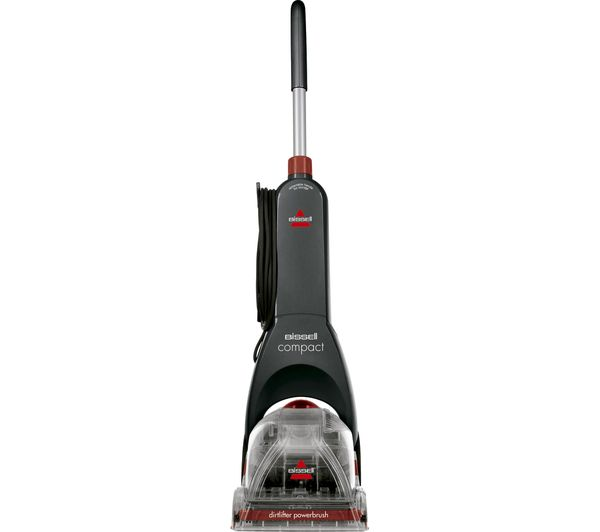 Image of BISSELL InstaClean Compact 48X4E Upright Carpet Cleaner - Titanium & Red