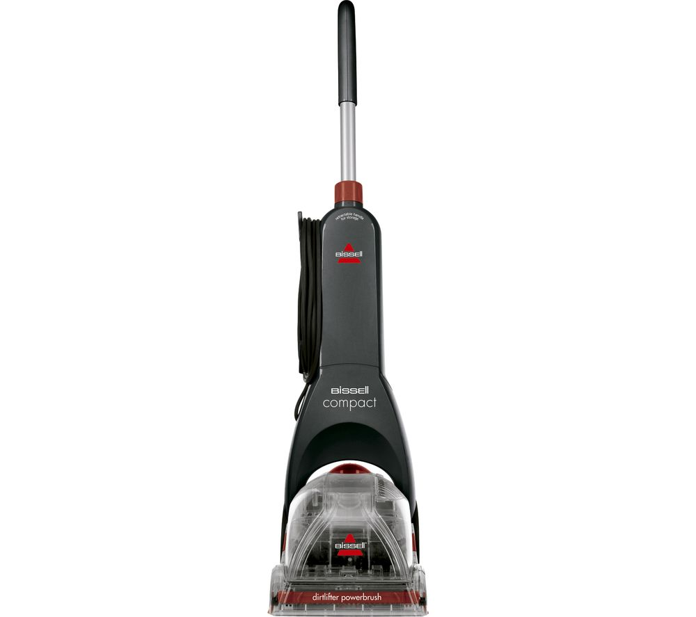 BISSELL InstaClean Compact 48X4E Upright Carpet Cleaner - Titanium & Red