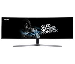 "SAMSUNG LC49HG90DMUXEN Super Wide Full HD 49"" Curved QLED Gaming Monitor - Charcoal"