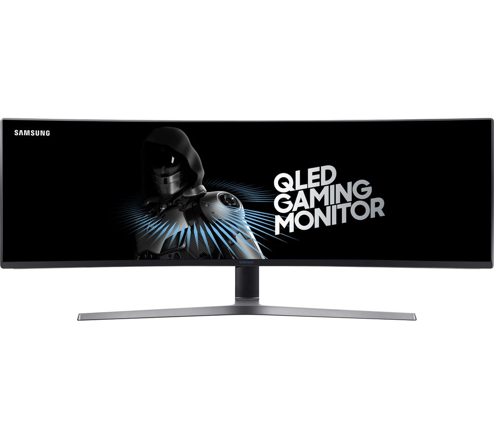 "Image of SAMSUNG LC49HG90DMUXEN Super Wide Full HD 49"" Curved QLED Gaming Monitor - Charcoal, Charcoal"