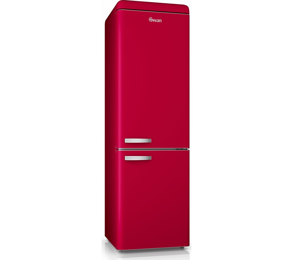 Swan SR11020RN Retro Tall Fridge Freezer - Red