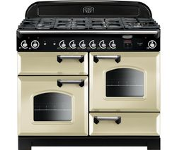 RANGEMASTER Classic 110 cm Gas Range Cooker - Cream & Chrome