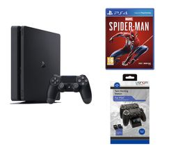 SONY PlayStation 4, Marvel's Spider-Man & Twin Docking Station Bundle - 500 GB