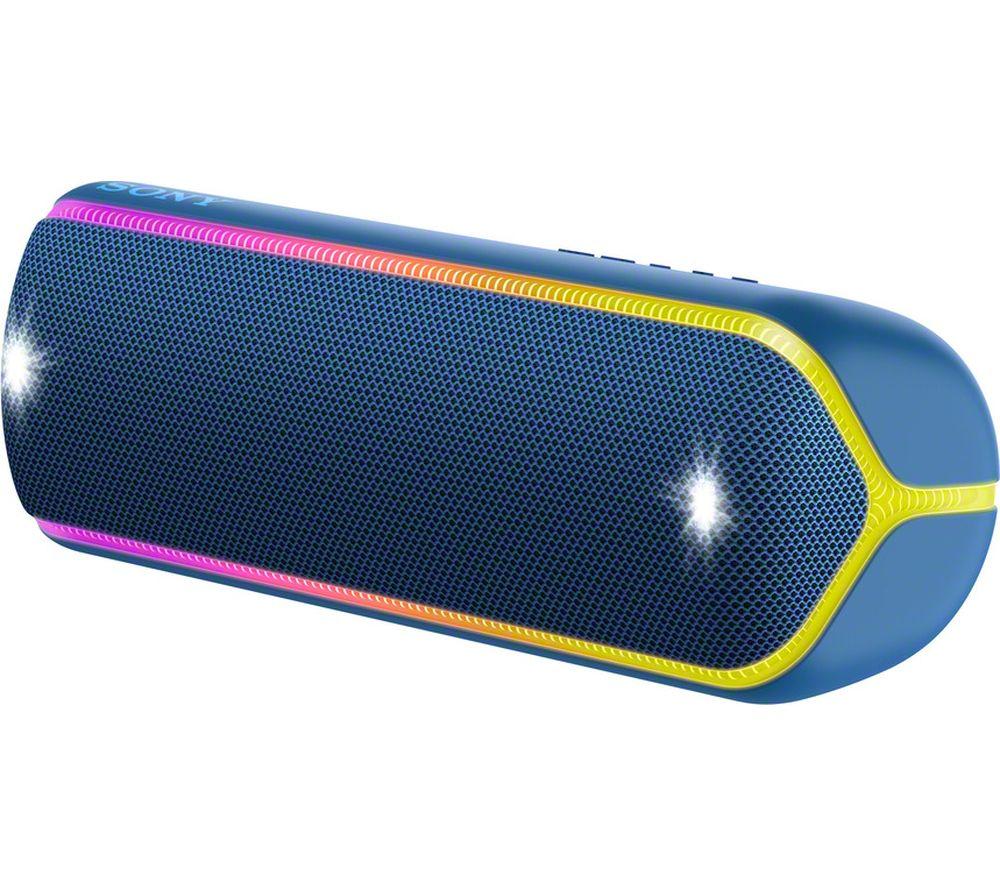 SONY EXTRA BASS SRS-XB32 Portable Bluetooth Speaker - Blue, Blue