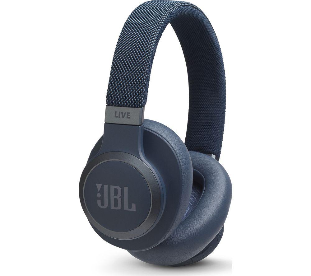 JBL LIVE 650BTNC Wireless Bluetooth Noise-Cancelling Headphones - Blue