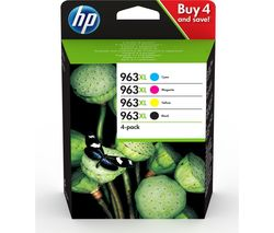 HP 963XL Cyan, Magenta, Yellow & Black Ink Cartridges