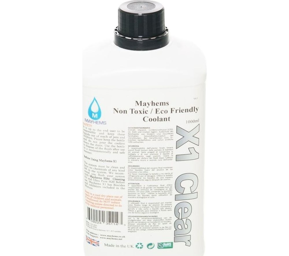 Image of MAYHEMS X1 Premixed Watercooling Fluid - UV Clear