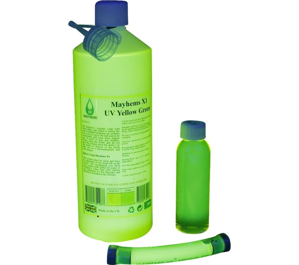 Image of MAYHEMS X1 Premixed 1 Litre Watercooling Fluid - Yellow/Green, Yellow