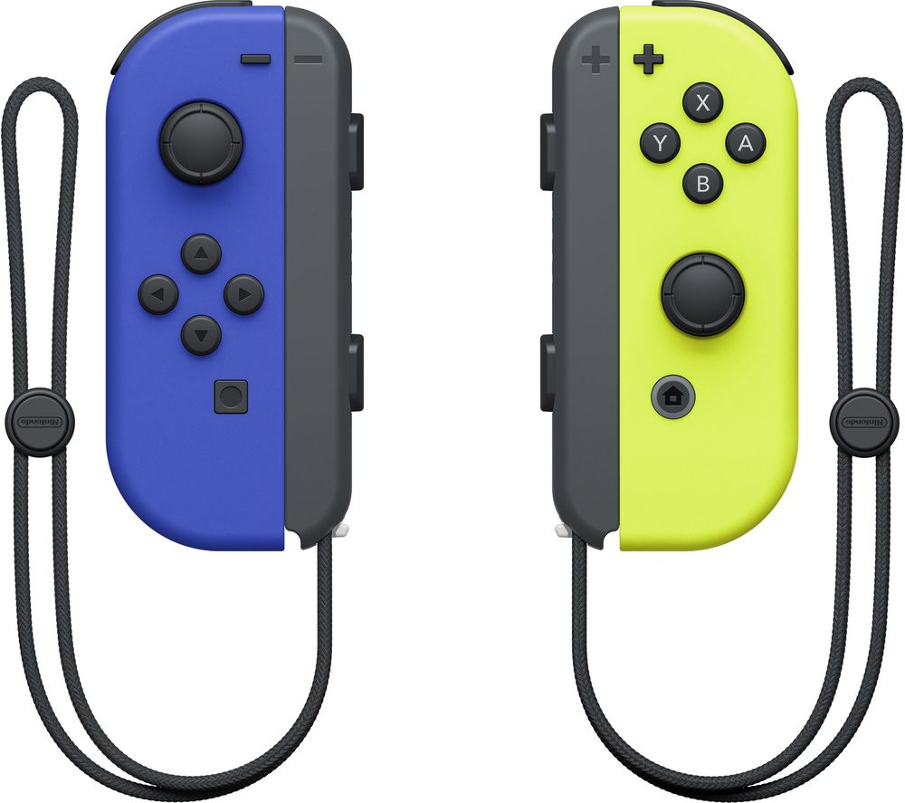 NINTENDO Switch Joy-Con Wireless Controllers - Blue & Yellow, Blue