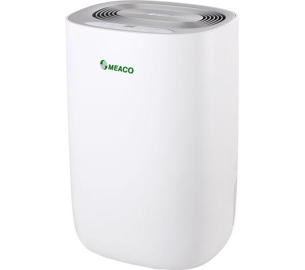 Image of MEACO Dry 10L Portable Dehumidifier - White & Silver
