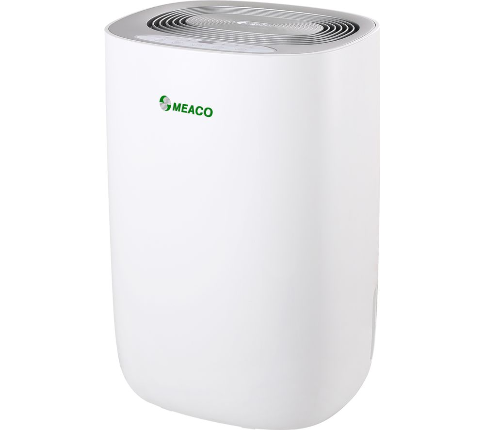 Image of Dry 10L Portable Dehumidifier - White & Silver, White