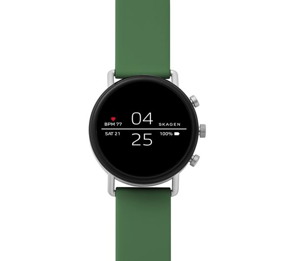 Image of SKAGEN Falster 2 Smartwatch - Green, Silicone Strap