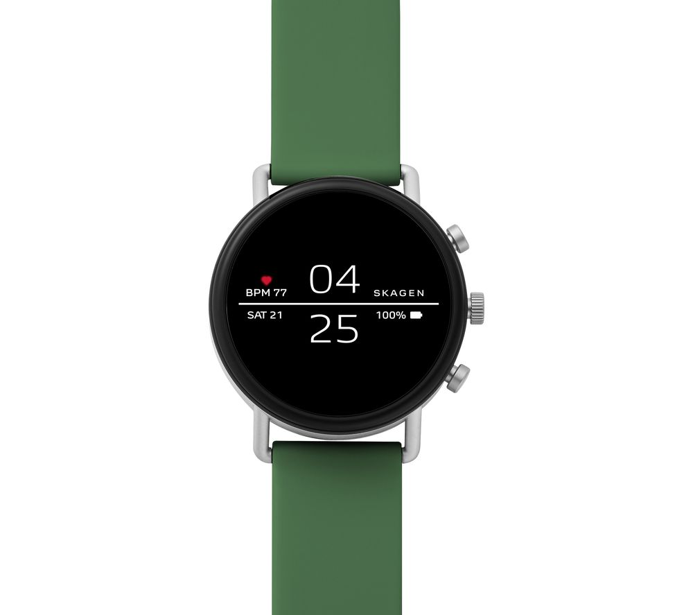 Image of SKAGEN Falster 2 Smartwatch - Green, Silicone Strap, Green