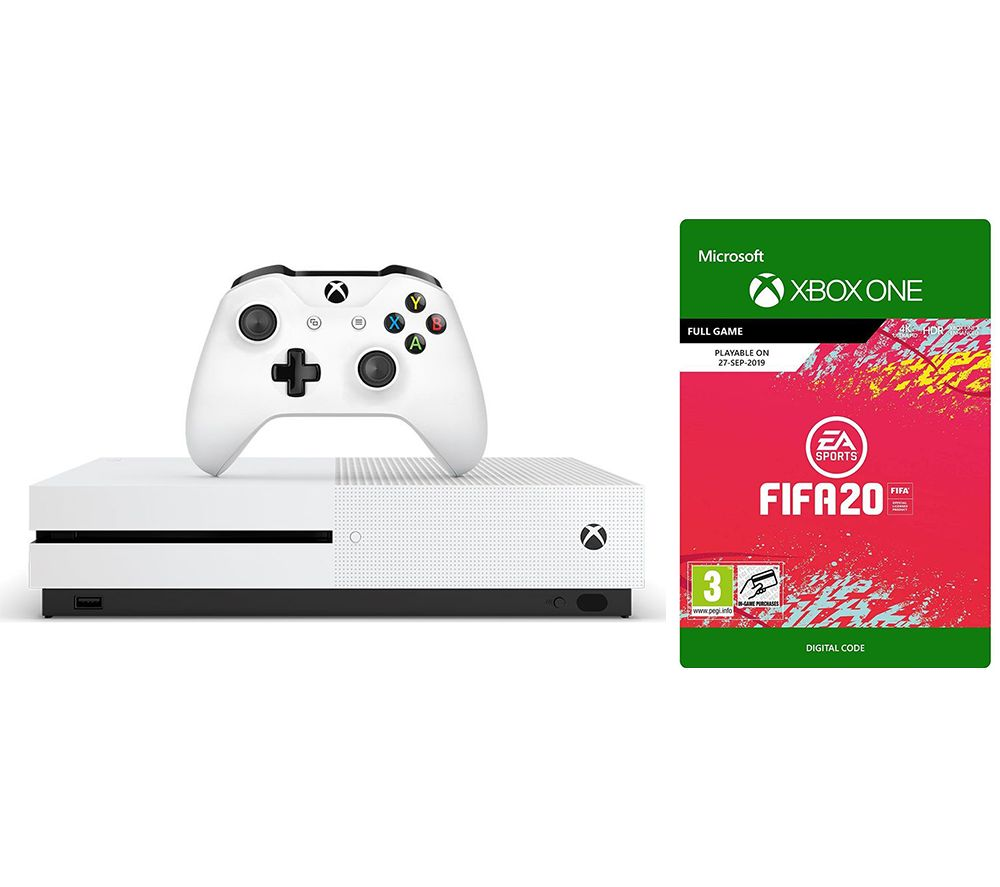 MICROSOFT Xbox One S 1 TB & FIFA 20 Bundle