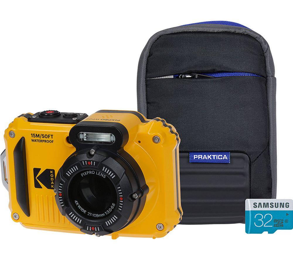 KODAK PIXPRO WPZ2 Tough Compact Camera with Case & SD Card - Yellow