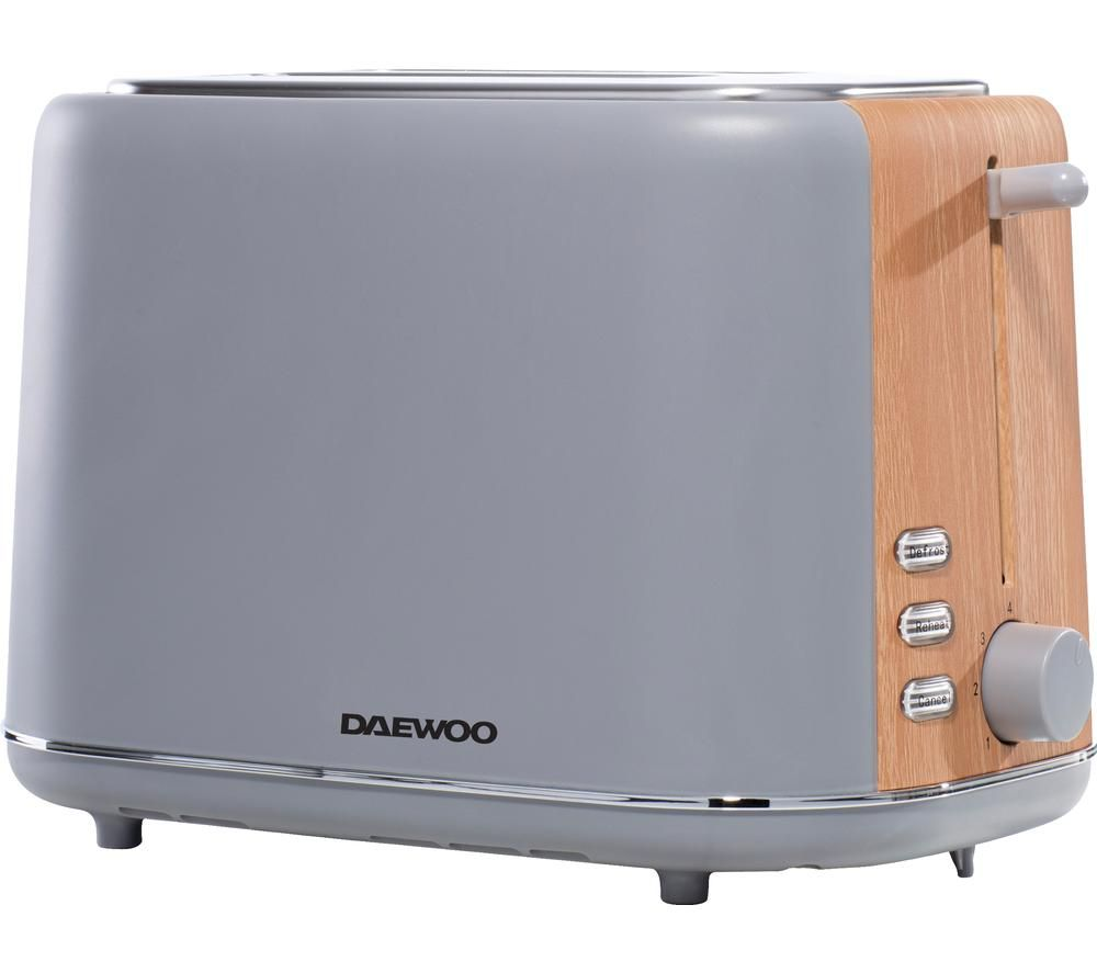 DAEWOO SDA1737 2-Slice Toaster - Grey, Grey