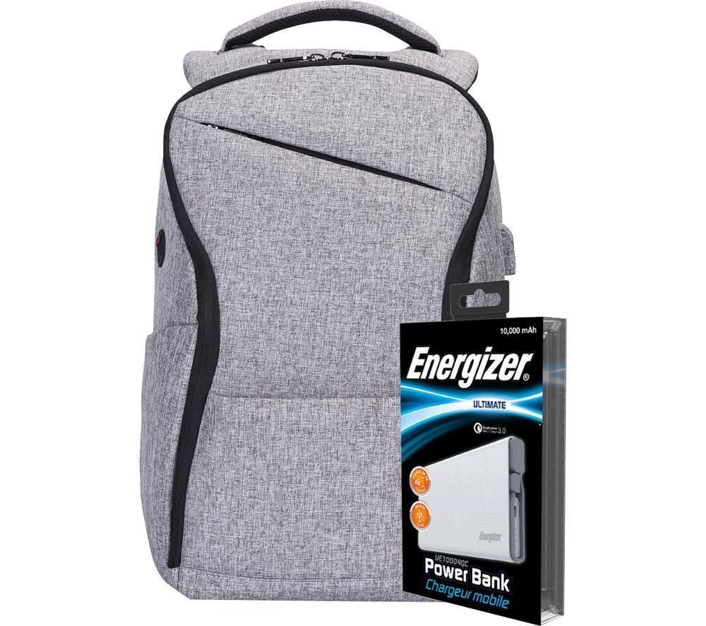 Image of ENERGIZER EPB005 Backpack with Power Bank - Grey, Grey