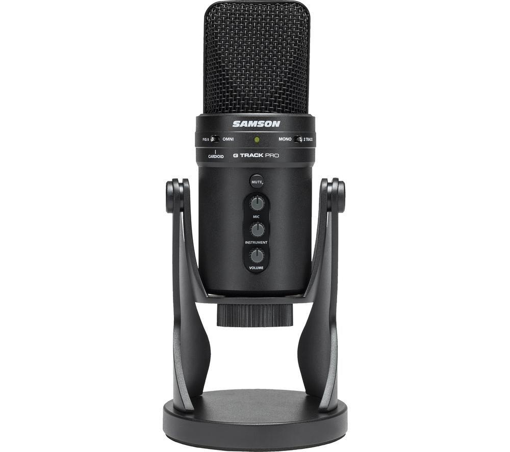 SAMSON G-Track Pro USB Microphone - Black