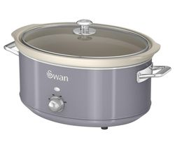 SWAN Retro SF17031GRN Slow Cooker - Grey Best Price, Cheapest Prices