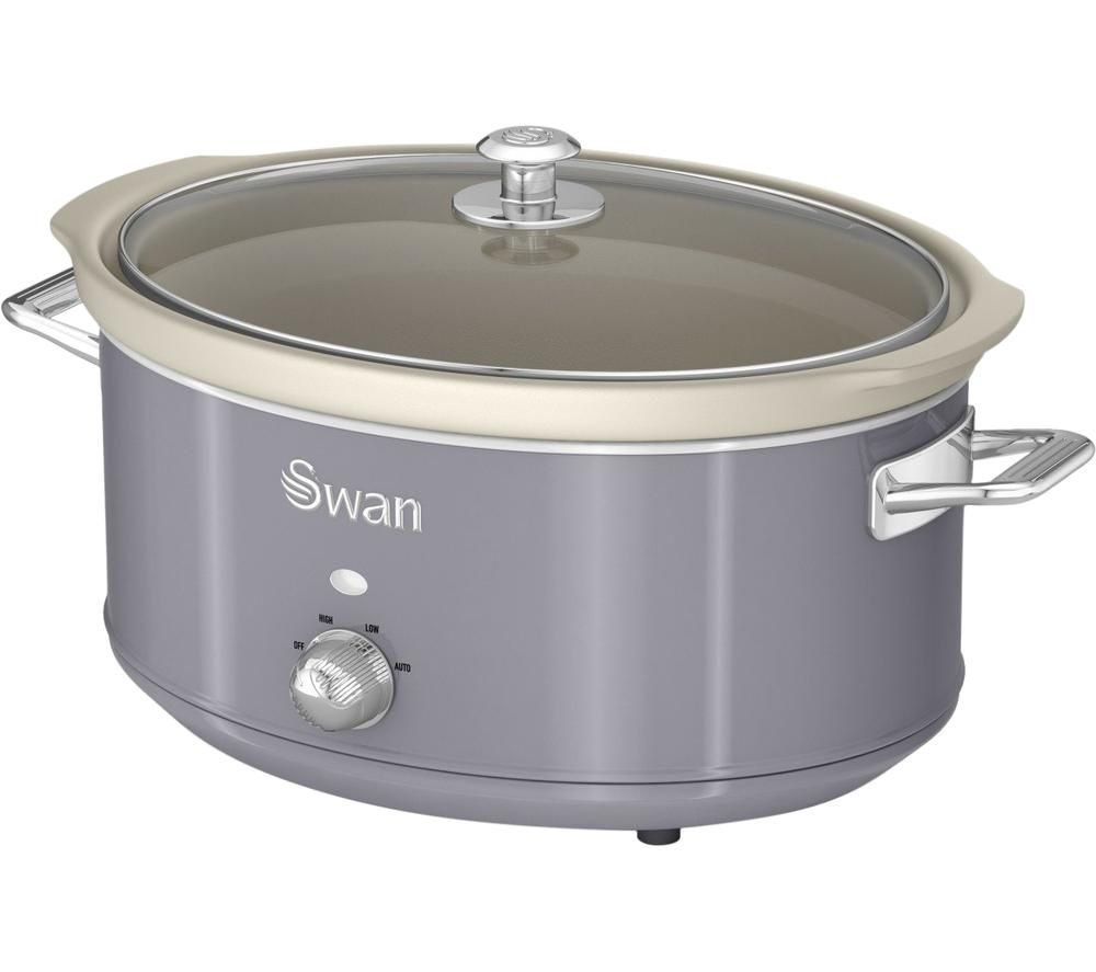 SWAN Retro SF17031GRN Slow Cooker - Grey