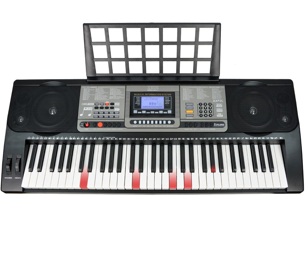 AXUS AXP2L Electronic Keyboard - Black & Grey