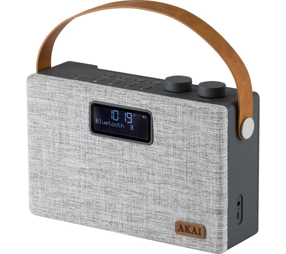 Image of AKAI A61029 Portable DABﱓ Bluetooth Radio - Grey, Grey