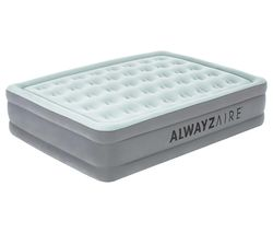 Tritech AlwayzAire Inflatable Queen Airbed - Grey & White