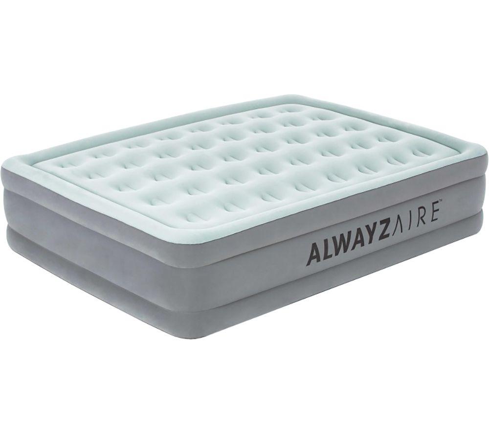 BESTWAY Tritech AlwayzAire Inflatable Queen Airbed - Grey & White