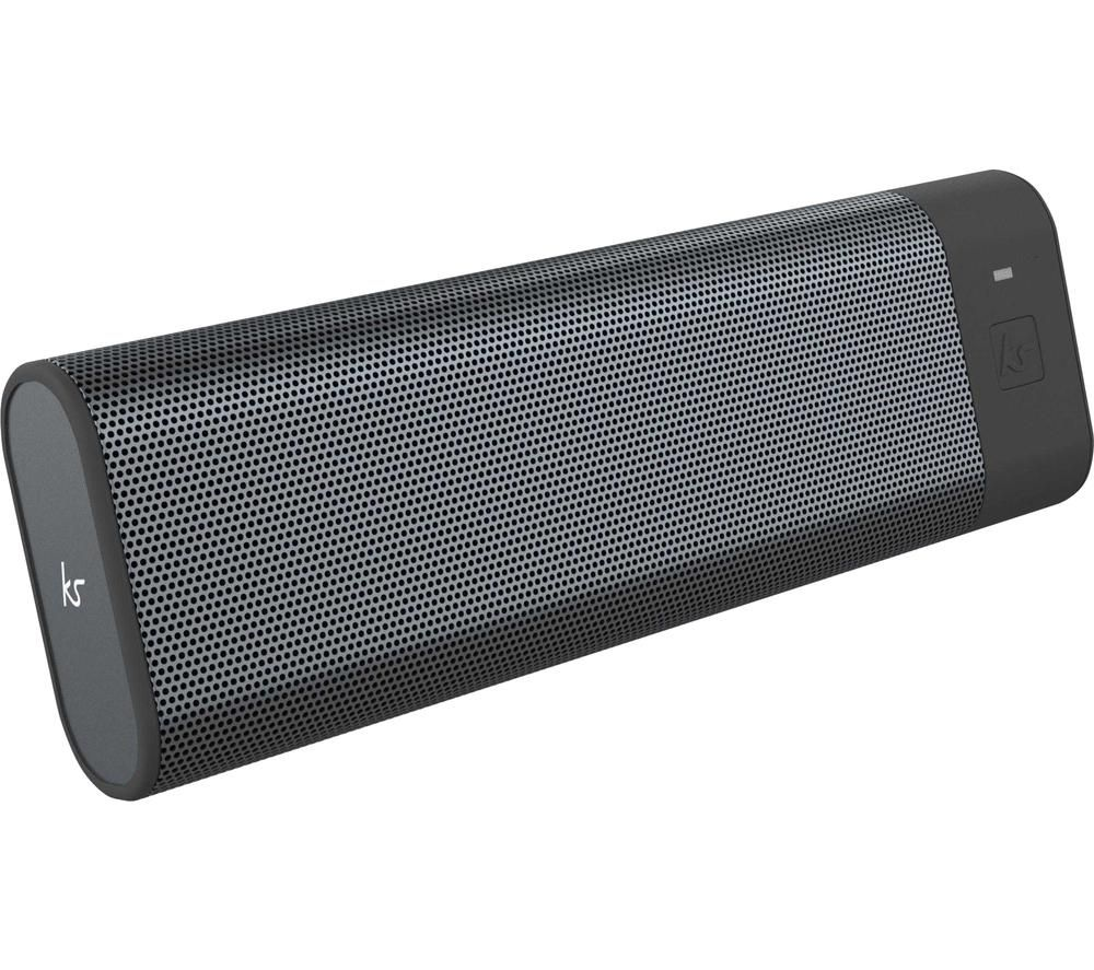 KITSOUND BoomBar+ Portable Bluetooth Speaker - Grey