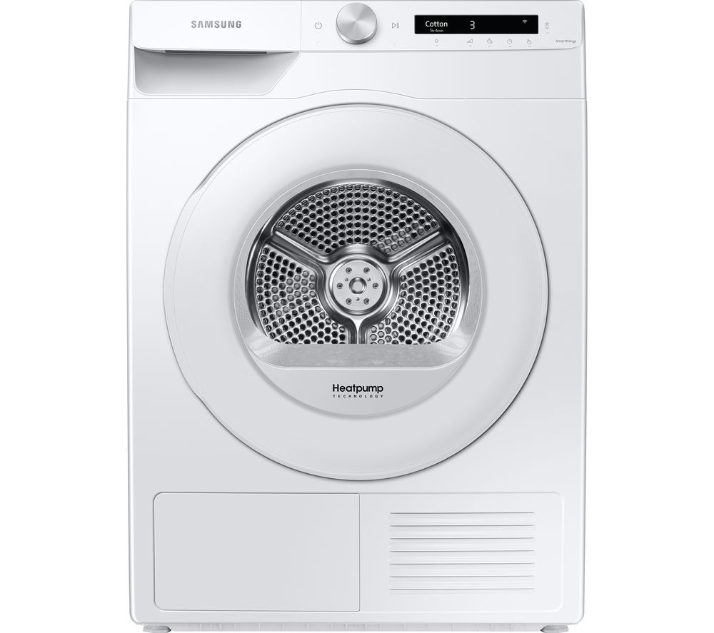 SAMSUNG Series 5+ DV80T5220TW/S1 WiFi-enabled 8 kg Heat Pump Tumble Dryer - White