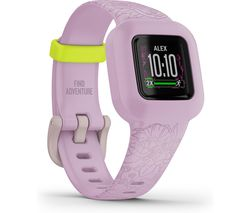 vivofit jr. 3 Kid's Activity Tracker - Lilac Floral, Adjustable Band