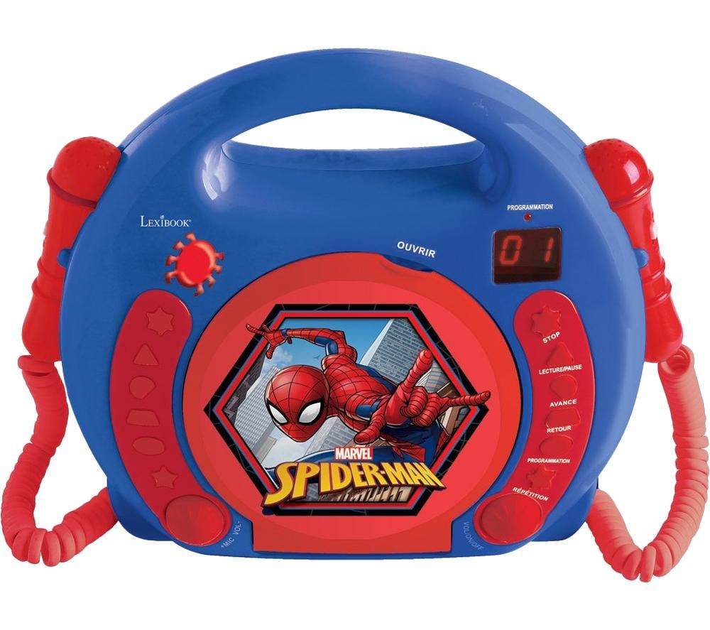 LEXIBOOK RCDK100SP CD Player with Microphones - Spider-Man