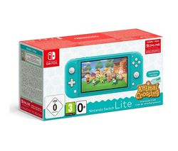 Switch Lite Turquoise & Animal Crossing: New Horizons Bundle
