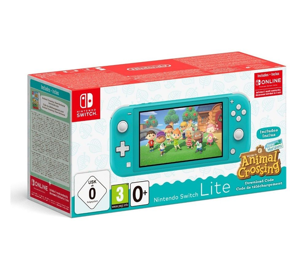 NINTENDO Switch Lite Turquoise & Animal Crossing: New Horizons Bundle