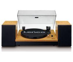 LS-300 Belt Drive Bluetooth Turntable - Wood