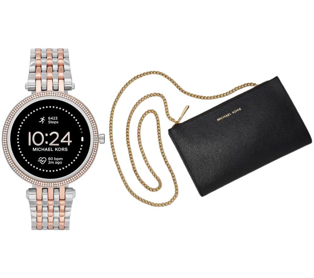 MICHAEL KORS Darci Gen 5E MKT5129 Smartwatch & Mini Messenger Bag Bundle