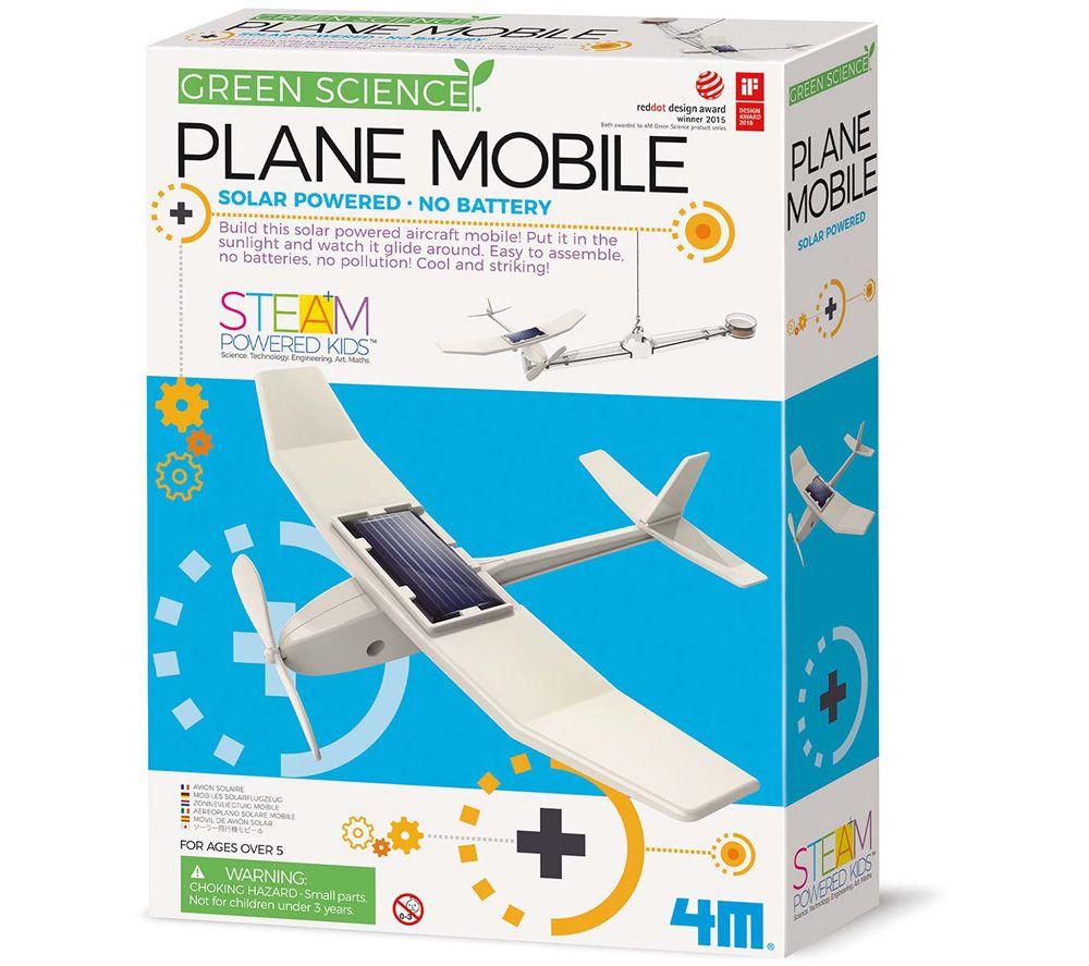 GREEN SCIENCE Solar Plane Mobile, Green