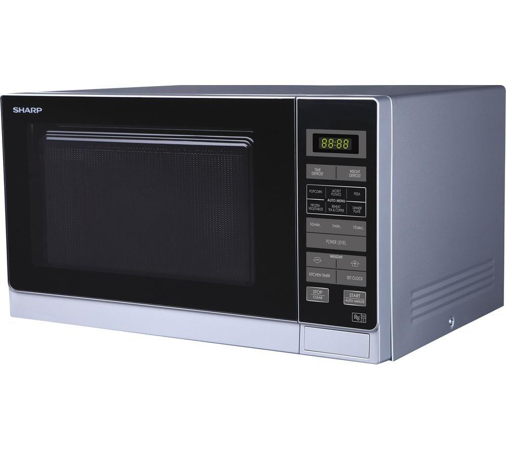 SHARP R372SLM Solo Microwave - Silver