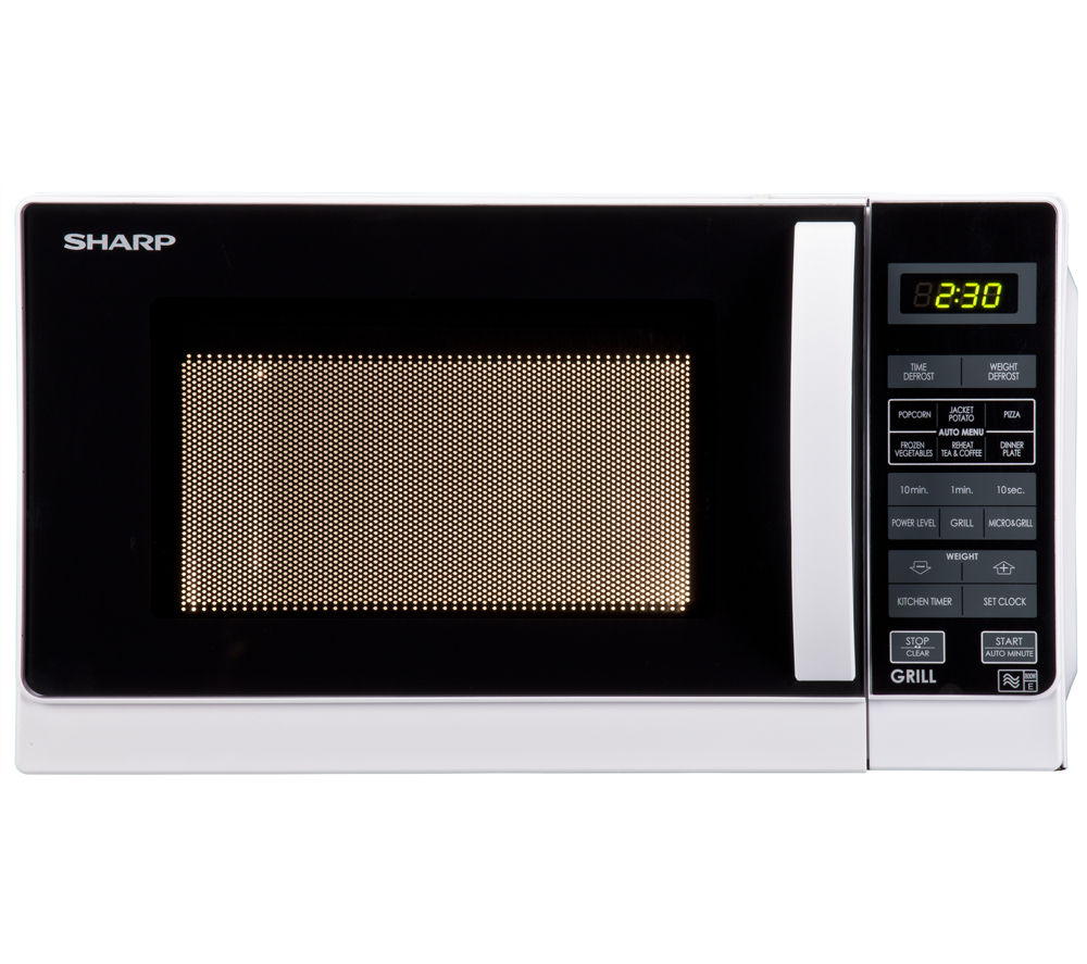 Sharp R662wm Microwave With Grill White