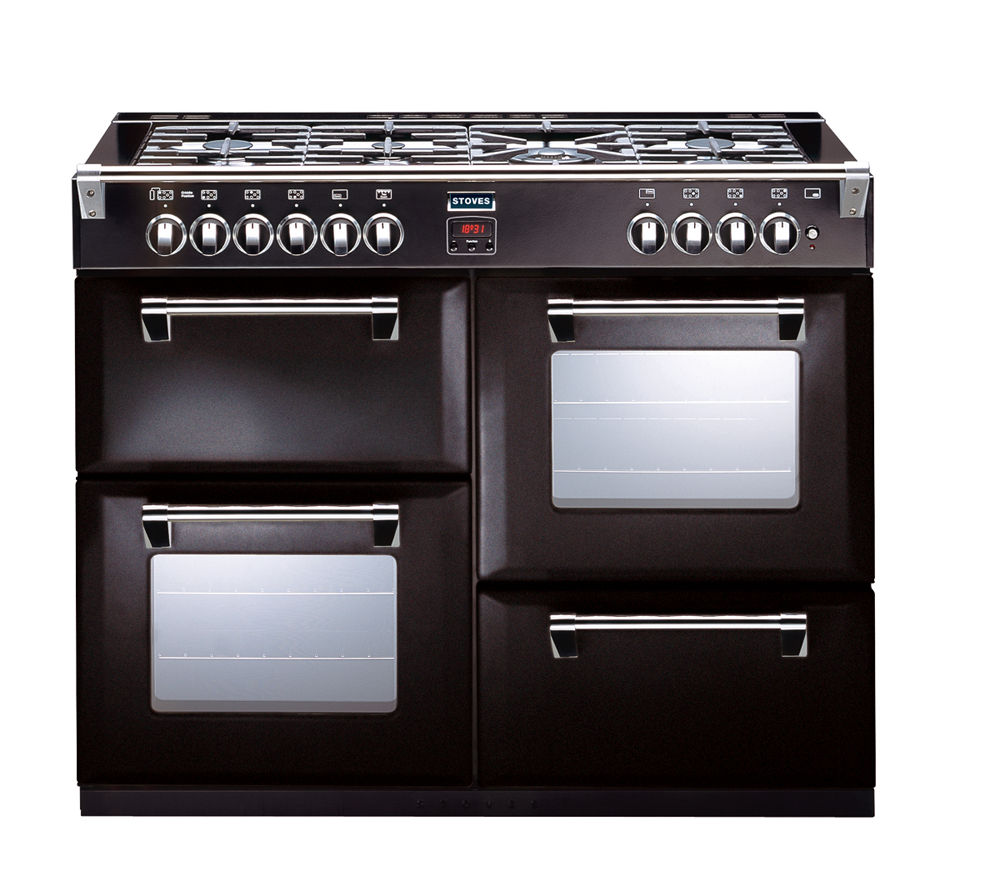 STOVES Richmond 1000DFT Dual Fuel Range Cooker - Black