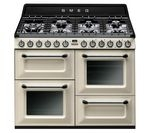 SMEG TR4110P1 Dual Fuel Range Cooker - Cream & Black
