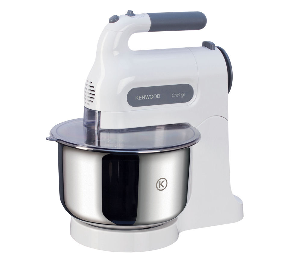 KENWOOD HM680 Chefette Hand Mixer with Bowl - White & Grey