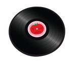 JOSEPH JOSEPH 90001 Glass Chopping Board - Tomato Vinyl